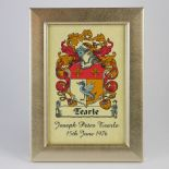 Family Crest Small Framed Print PERSONALISED, ref FCGF